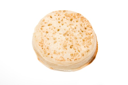 Crumpet isolated on a white background