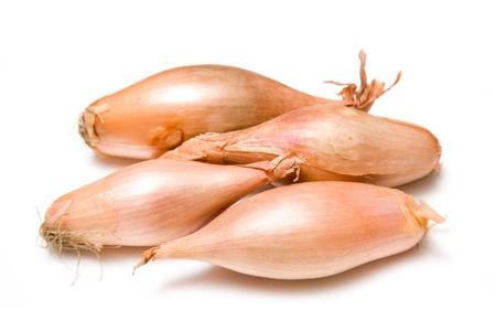 Shallots isolated on a white studio background  photo