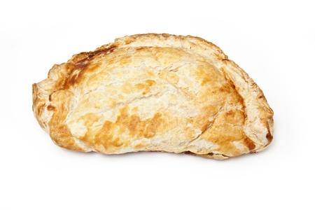 pasty: Cornish pasty on a white studio background