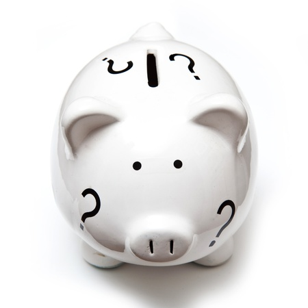Piggy bank money box on a white background  photo