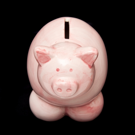 money box: Piggy bank money box  Stock Photo