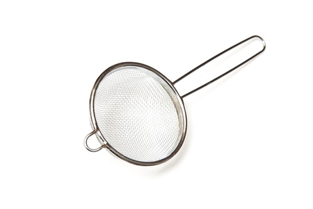 sieve isolated on a white background  photo