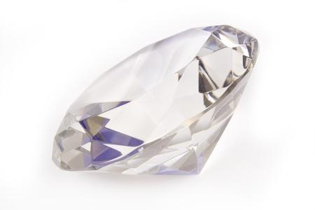 Diamond isolated on a white studio background