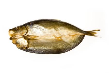kipper: Smoked kipper on a white background  Stock Photo