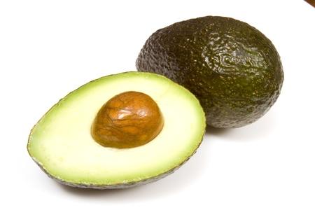 Avocado isolated on a white studio background.