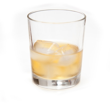 Glass of Scotch whiskey isolated on a white studio background. Stock Photo - 17686331