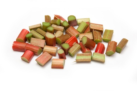 Rhubarb  isolated on a white studio background.