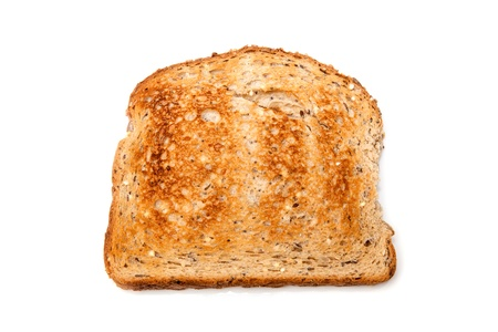 Wholemeal toast isolated on a white studio background. photo