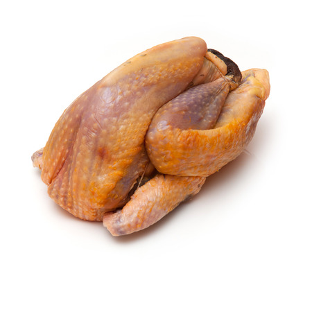 guinea fowl: Guinea fowl uncooked isolated on a white studio background.