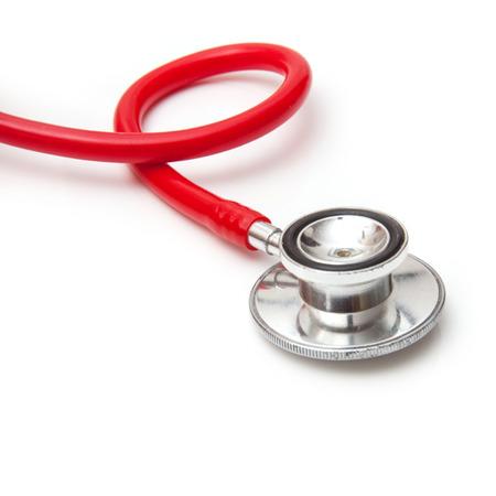 heathcare: Medical stethoscope isolated on a white studio background.