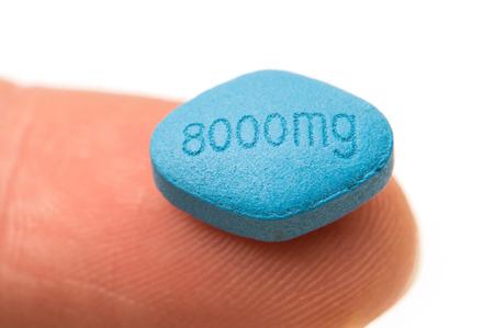 Generic erectile dysfunction blue tablet. photo
