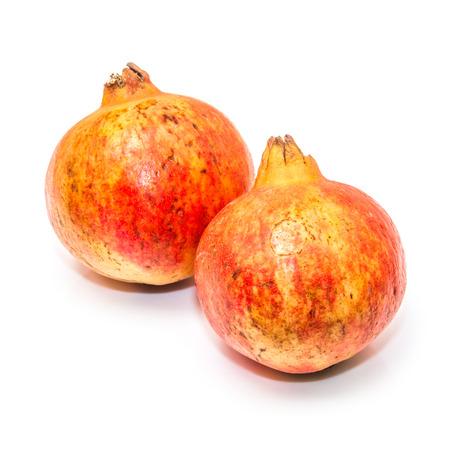 punica granatum: Pomegranate fruit , Punica granatum isolated on a white studio background. Stock Photo