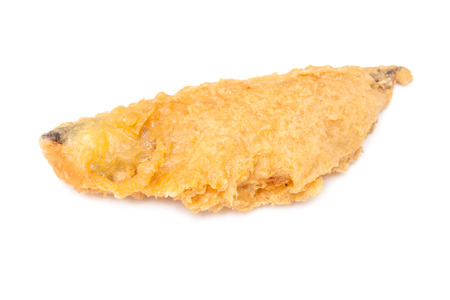 seafish: fillet of battered deep fried Haddock fresh from the fish and chip shop.