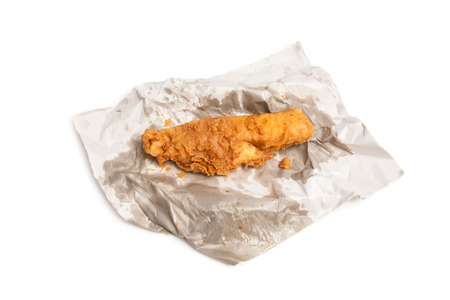 battered: fillet of battered deep fried cod fresh from the fish and chip shop.