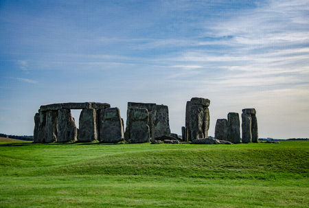 Blue sky over Stonehenge (Historical monument England, UK) 写真素材