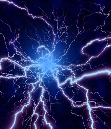 rainstorm: LIGHTNING