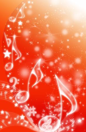 simbolos musicales: FONDO MUSICAL Foto de archivo