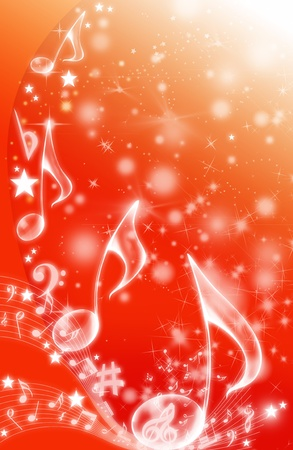 MUSICAL BACKGROUND Stock Photo - 8457990