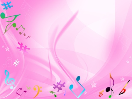 MUSICAL BACKGROUND Stock Photo - 8464040