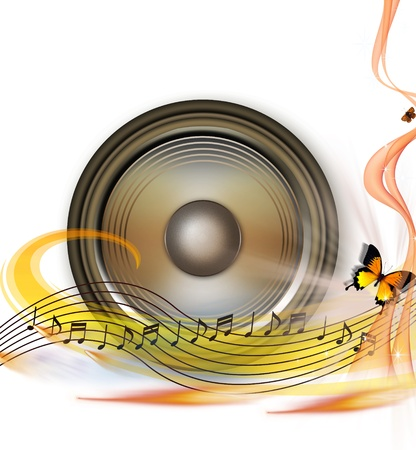 MUSICAL BACKGROUND Stock Photo - 8475041