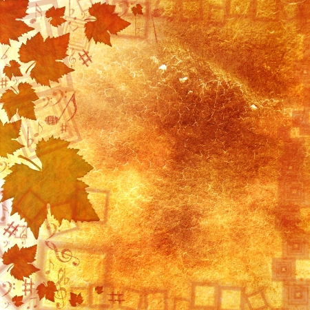 AUTUMN MUSICAL BACKGROUND Stock Photo - 8621975