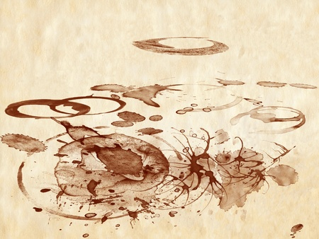 Coffee stains Stock Photo - 8951383