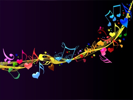 Colorful Romantic Background Music photo