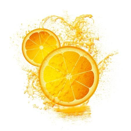 Slice of lemon isolated on white photo