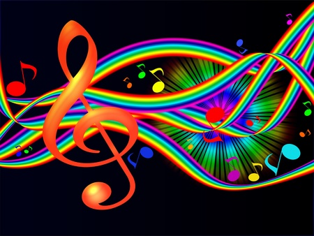 Colorful Background Music Stock Photo