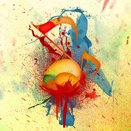 WATERCOLOR MUSIC BACKGROUND photo