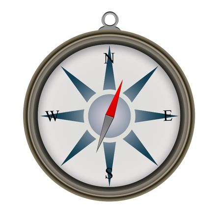 navigational: Compass on white background