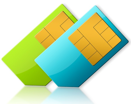 simcard: SIM-CARD ON WHITE BACKGROUND
