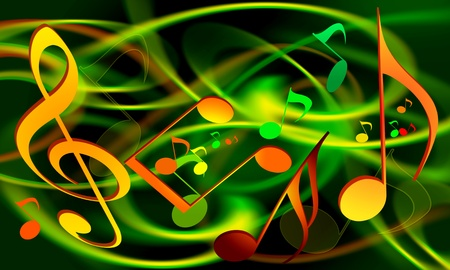 MUSICAL WALLPAPER Stock Photo - 9352542