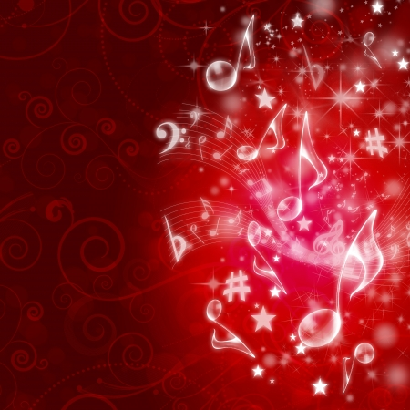MUSICAL WALLPAPER Stock Photo - 9369322