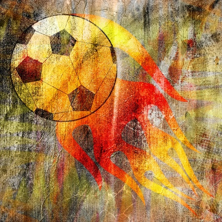 Grunge wallpaper with a football Stock Photo - 9450549