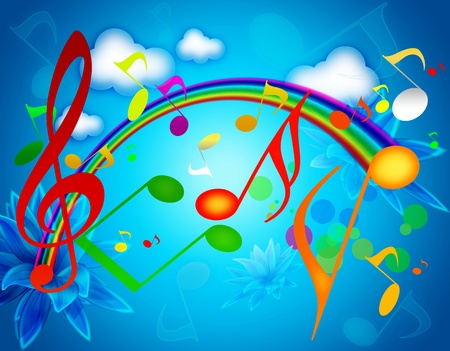 Colorful SUMMER MUSIC WALLPAPERS Фото со стока