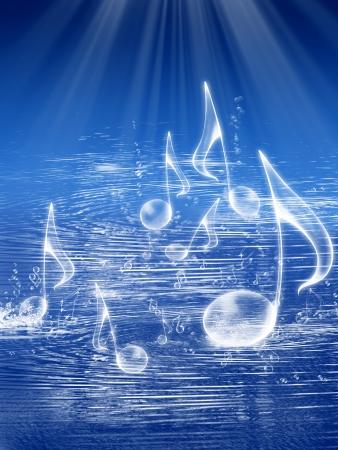 Música de fondo de mar Foto de archivo