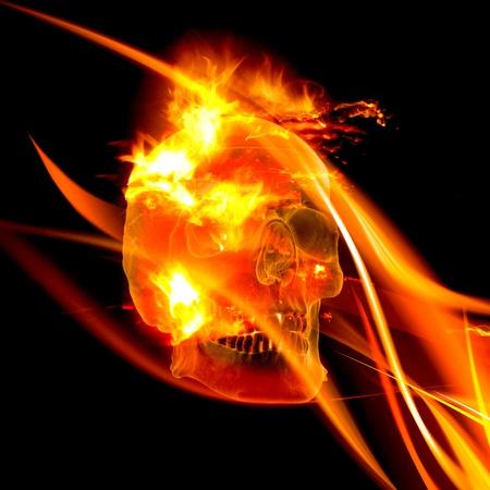 Flaming Skull Stock Photo - 9704249