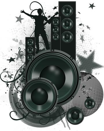 MUSICAL WALLPAPER Stock Photo - 9704263