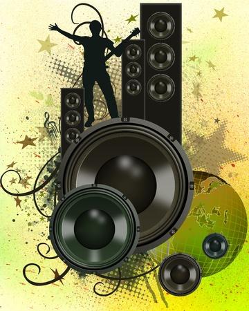 MUSICAL WALLPAPER Stock Photo - 9704264
