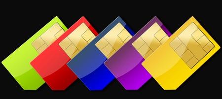simcard: SIM-CARD ON BLACK BACKGROUND