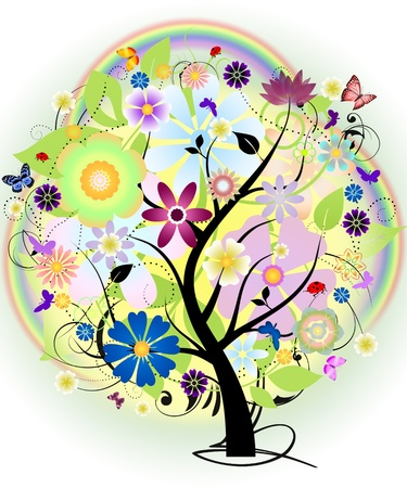 FUTURISTIC  FLOWER  TREE