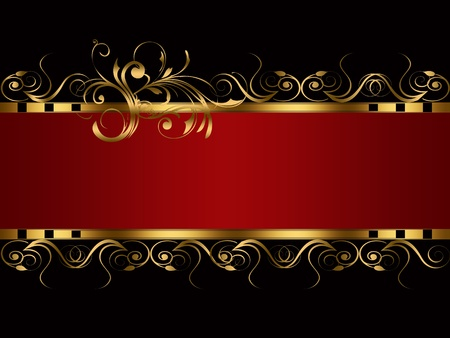 BANNER RED BLACK GOLD photo