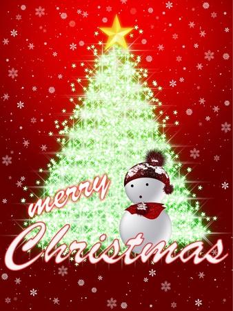CHRISTMAS CONGRATULATING CARD Stock Photo