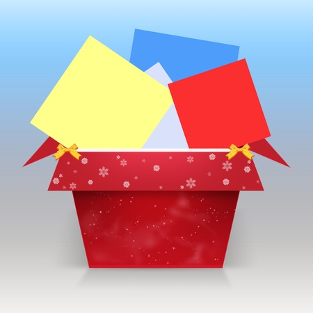 BOX WITH CHRISTMAS CONGRATULATIONS Stock Photo - 10362783