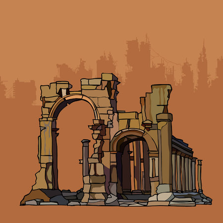 remains: Ancient crumbling arches of stone