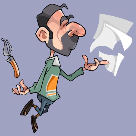 Cartoon male poet