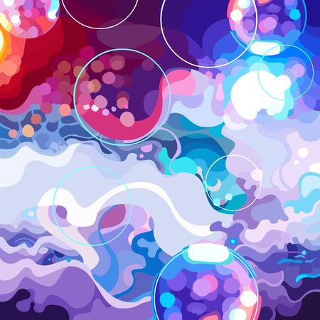 Abstracte kleurrijke achtergrond van een dansvloer. Stock Illustratie