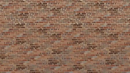 painted a large brick wall of old brick brown shades Illustration