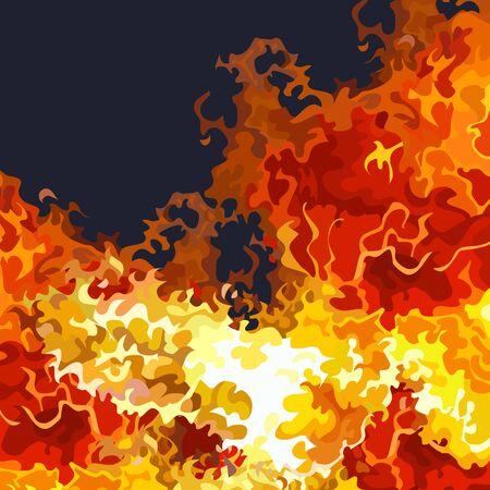 navy blue background with bright raging fire Ilustração